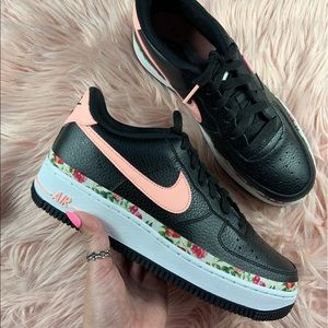 New Nike Air Force 1 Vintage Floral Sneakers